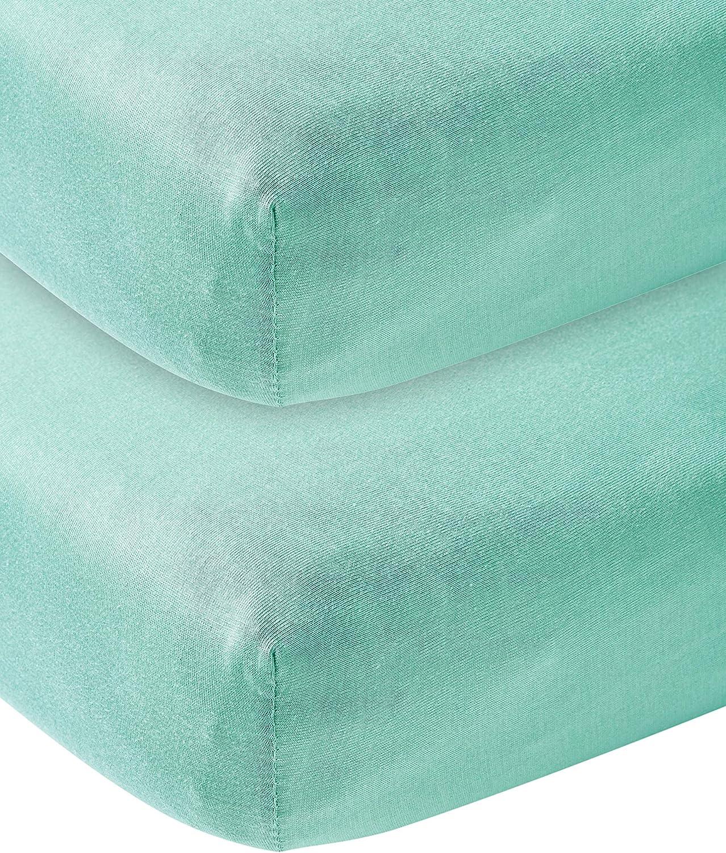 Meyco 564224 New Mint Lot de 2 draps en jersey pour lit denfant 60 x 120 cm