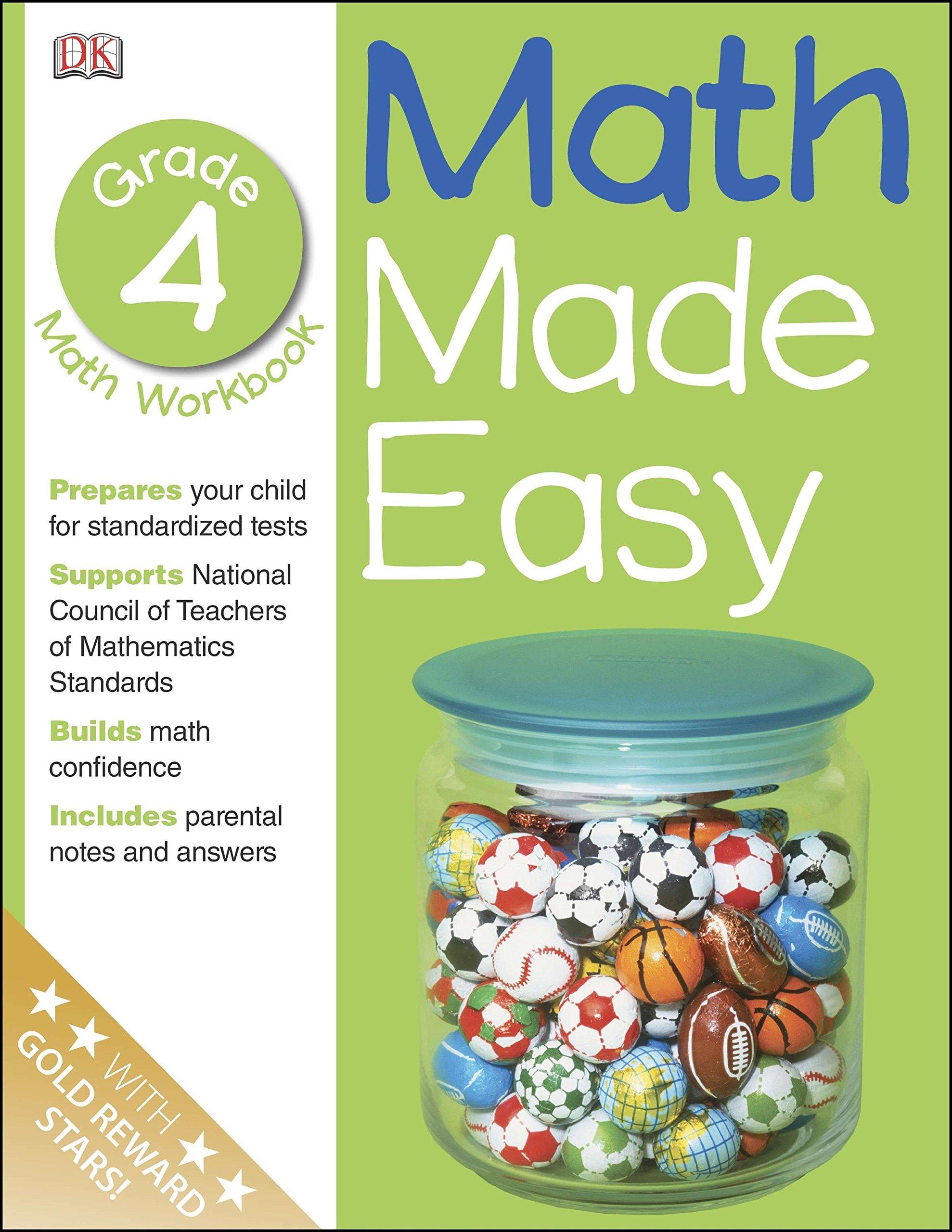 Math Made Easy: Fourth Grade Workbook (Math Made Easy)