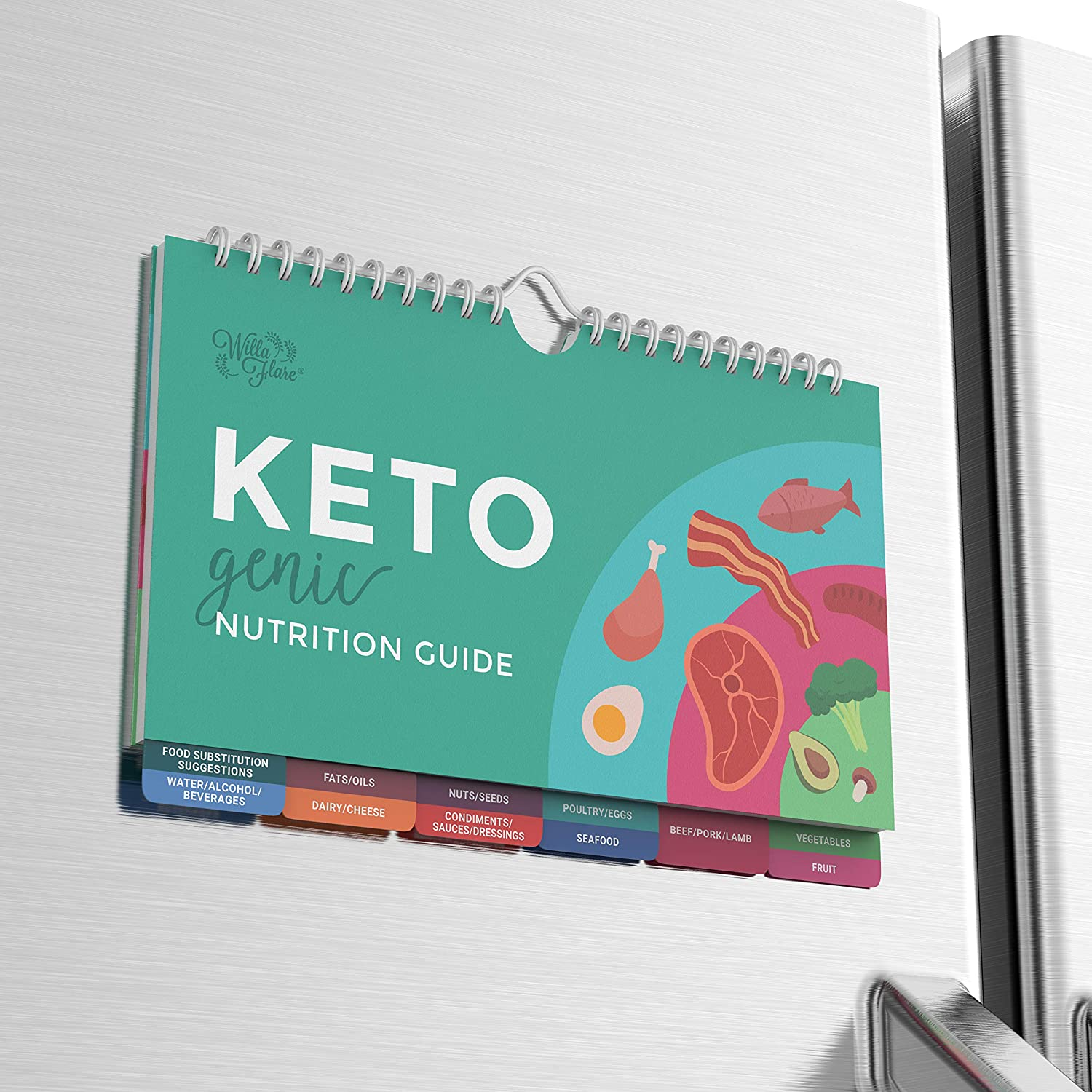 Keto Cheat Sheet Magnets - Easy Reference for 192 Keto Snacks and Foods! Correct Ketogenic Measurements for your Keto Cookbook - Easy Keto Diet Fridge Guide PLUS Extra List of 500 Foods