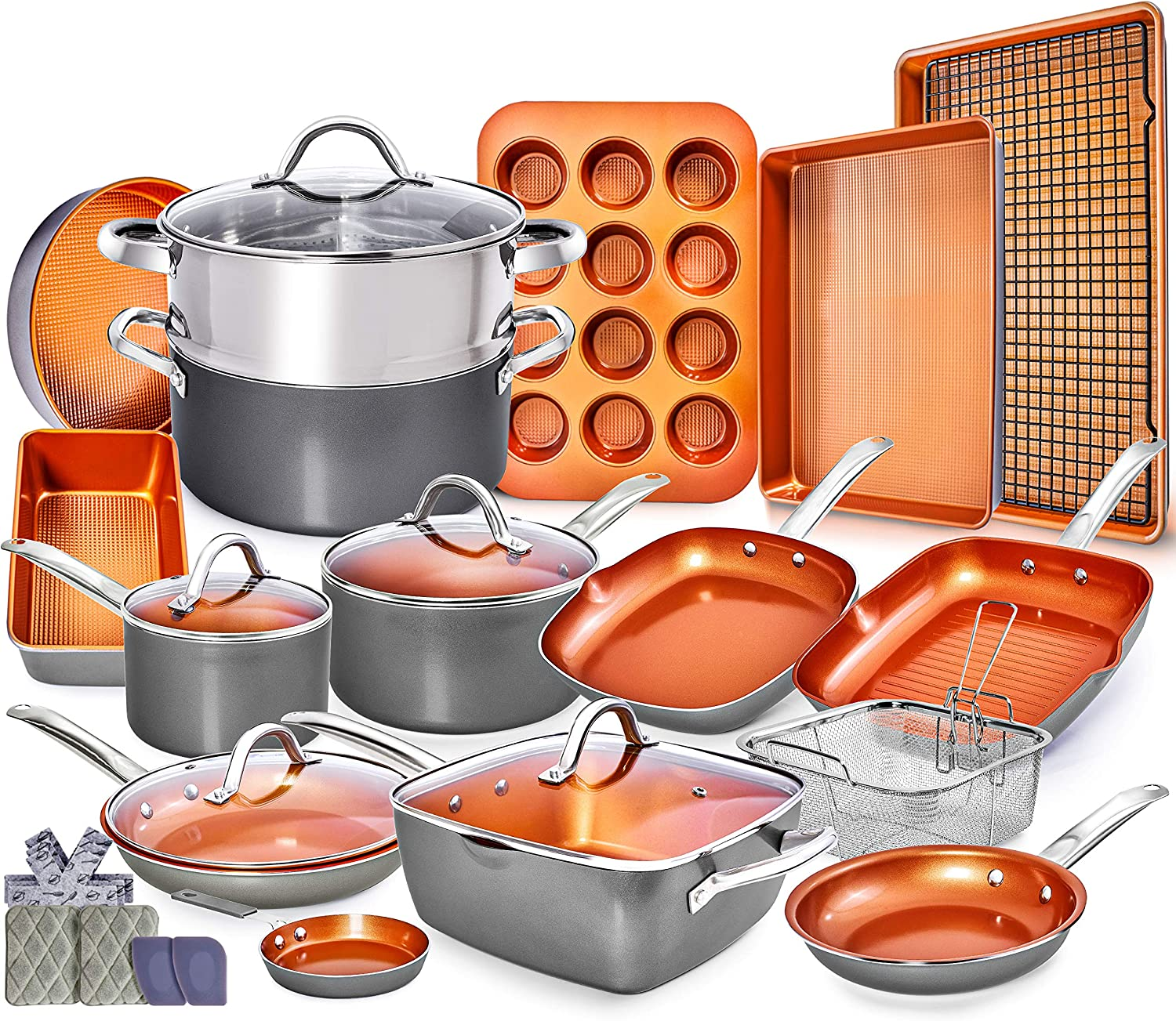 Home Hero 23pc Copper Cookware Set