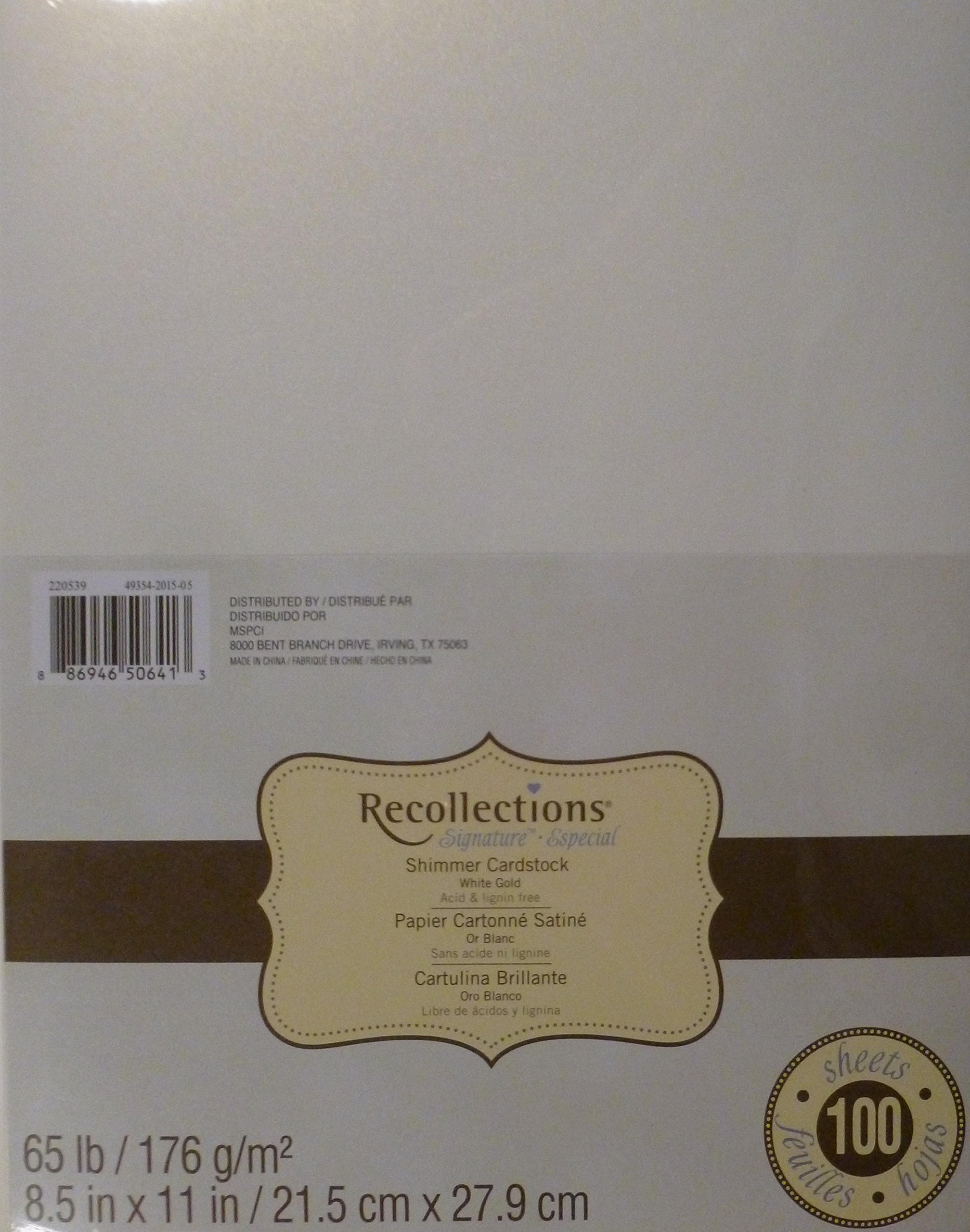 Gold color cardstock paper - Recollections Shimmer White Gold Cardstock Paper 8 5 X 11 100 Sheets Me