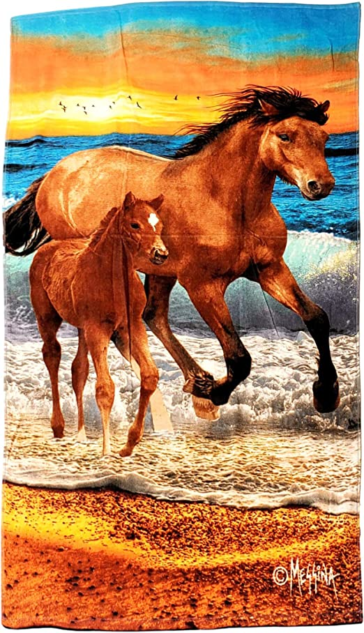 Mare /& Foal Beach Towel