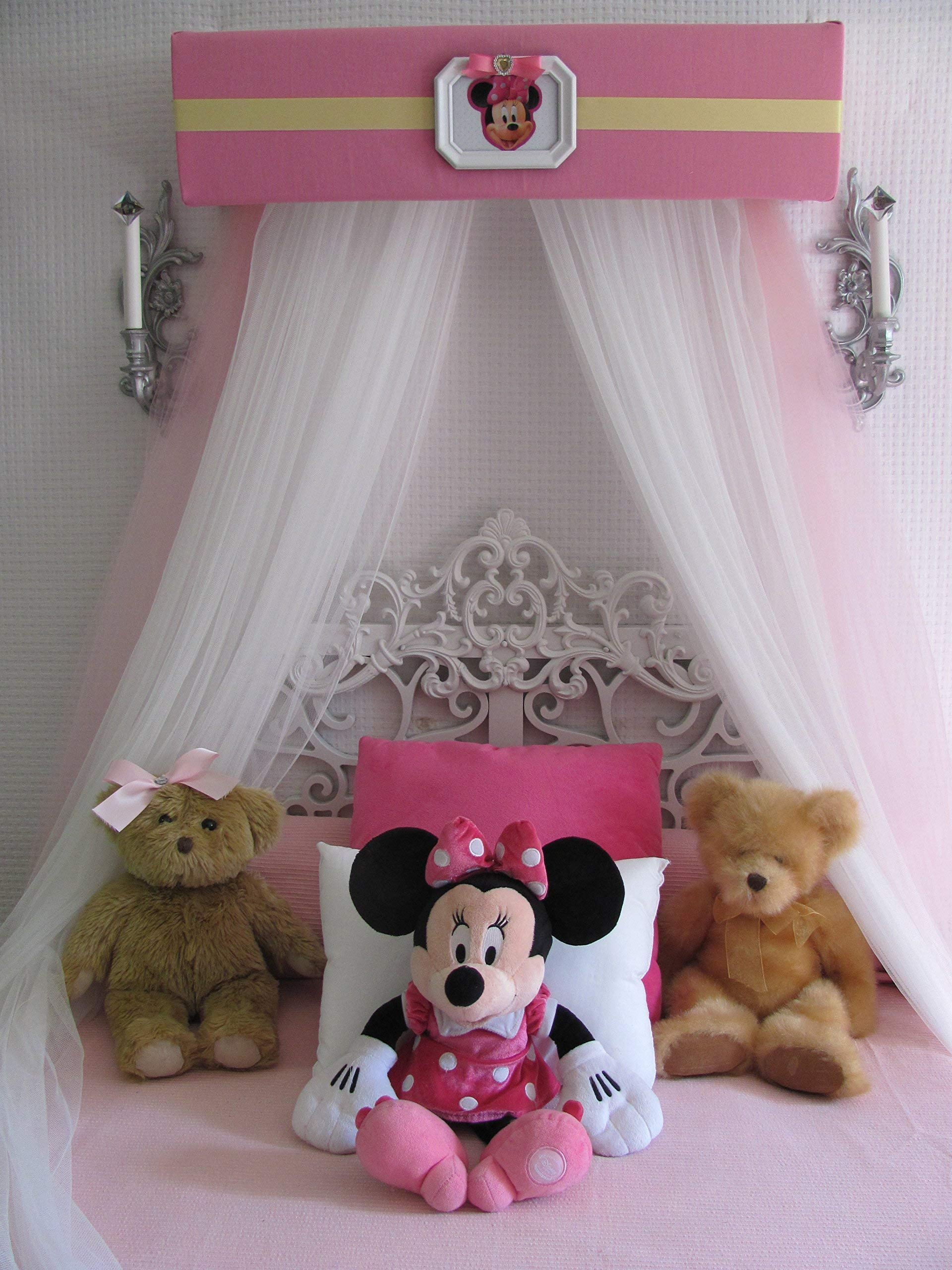 Disney Minnie Mouse Crib canopy cornice BED teester FULL Twin 30 inch Pink nursery So Zoey Boutique by So Zoey Boutique (Image #1)
