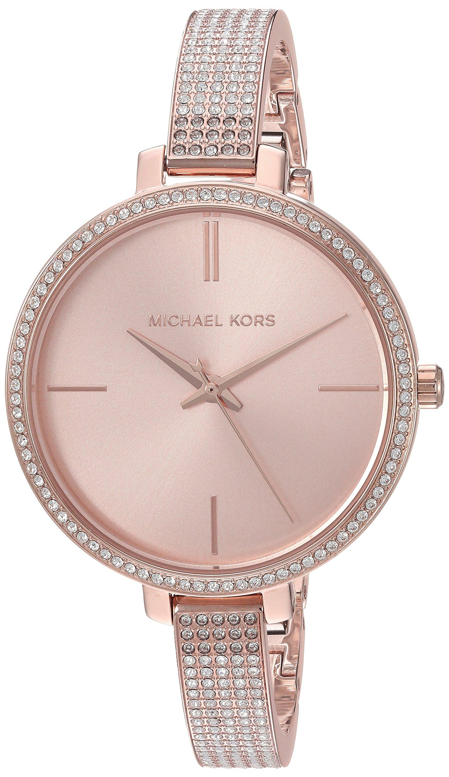 Michael Kors Women's 'Jaryn' Quartz Stainless Steel Casual Watch, Color:Rose Gold-Toned (Model: MK3785)