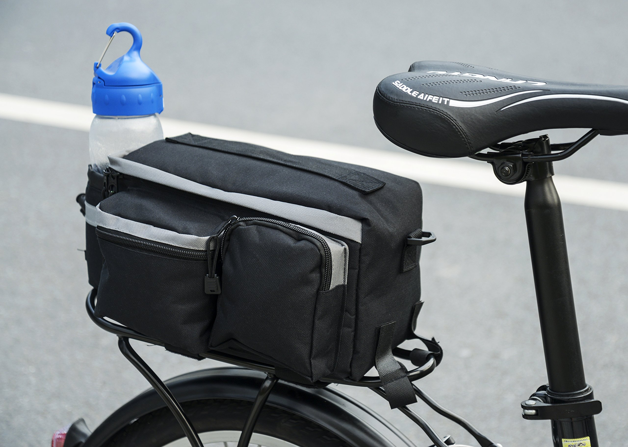 Roswheel 14024 Convertible Bike Bicycle Rear Rack Seat Pannier Trunk Bag with Cup Holder by Roswheel (Image #8)
