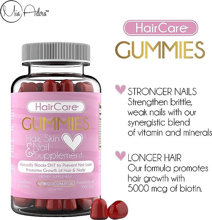 Amazon.com: Vitaminas para el cabello, fácil de comer, sin ...