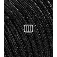 Merlotti 20310 - Cable eléctrico Redondo H03VV-F, 2 x 0,75 mm², Negro, 3 m