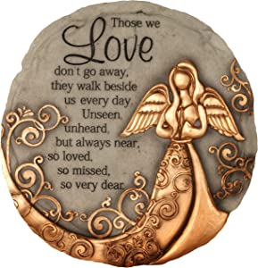 Spoontiques 13260 Bronze Angel Stepping Stone, One Size