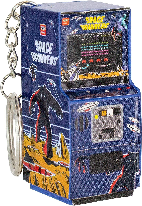 Retro Gaming Space Invaders Arcade Machine Style Keyring Keychain