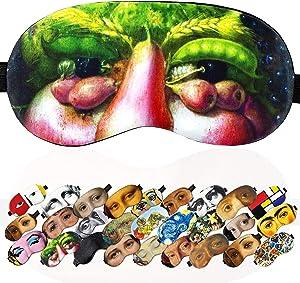 Sleep Mask Masterpieses for Women Men Children Kids - 100% Soft Cotton - Comfortable Eye Sleeping Mask Night Cover Blindfoldfor Travel Airplane (Ventumnus, Plastic Pack)