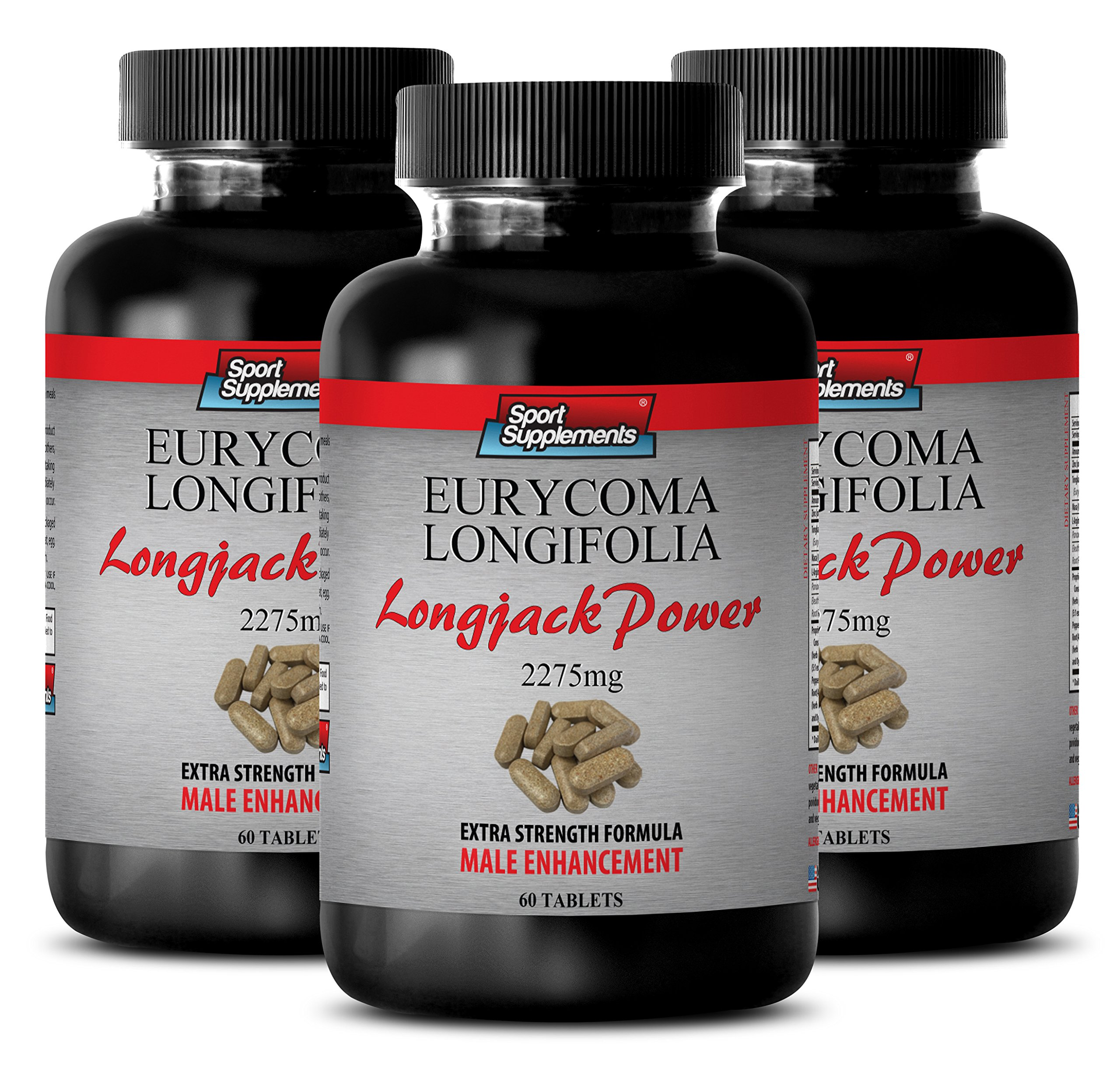 l-arginine - Longjack Power Eurycoma Longifolia 2275mg - Sexual enhancer for men pills (3 Bottles - 180 Tablets)