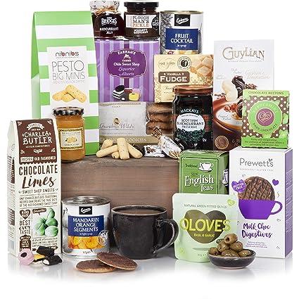 377213833b9e5b Luxuriöser Lebensmittel-Geschenkkorb - Traditionelle Gourmet-Geschenkkörbe  - Geschenke für Ihn oder Sie