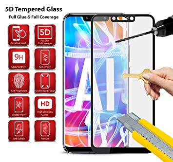 Cobertura completa borde a borde 9H 5D protector de pantalla para Huawei Honor Play