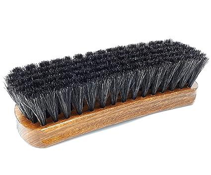crin de cheval souple noir DELARA Tr/ès grande brosse /à lustrer en bois vernis fabriqu/é en Allemagne