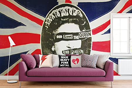 Officially Licensed Sex Pistols God Save The Queen Wall Mural