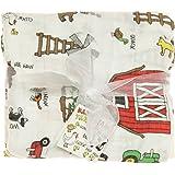 Imagine Baby Products Bamboo Swaddling Blanket (Barnyard Friends)