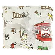 Imagine Baby Products Bamboo Swaddling Blanket, Barnyard Jam