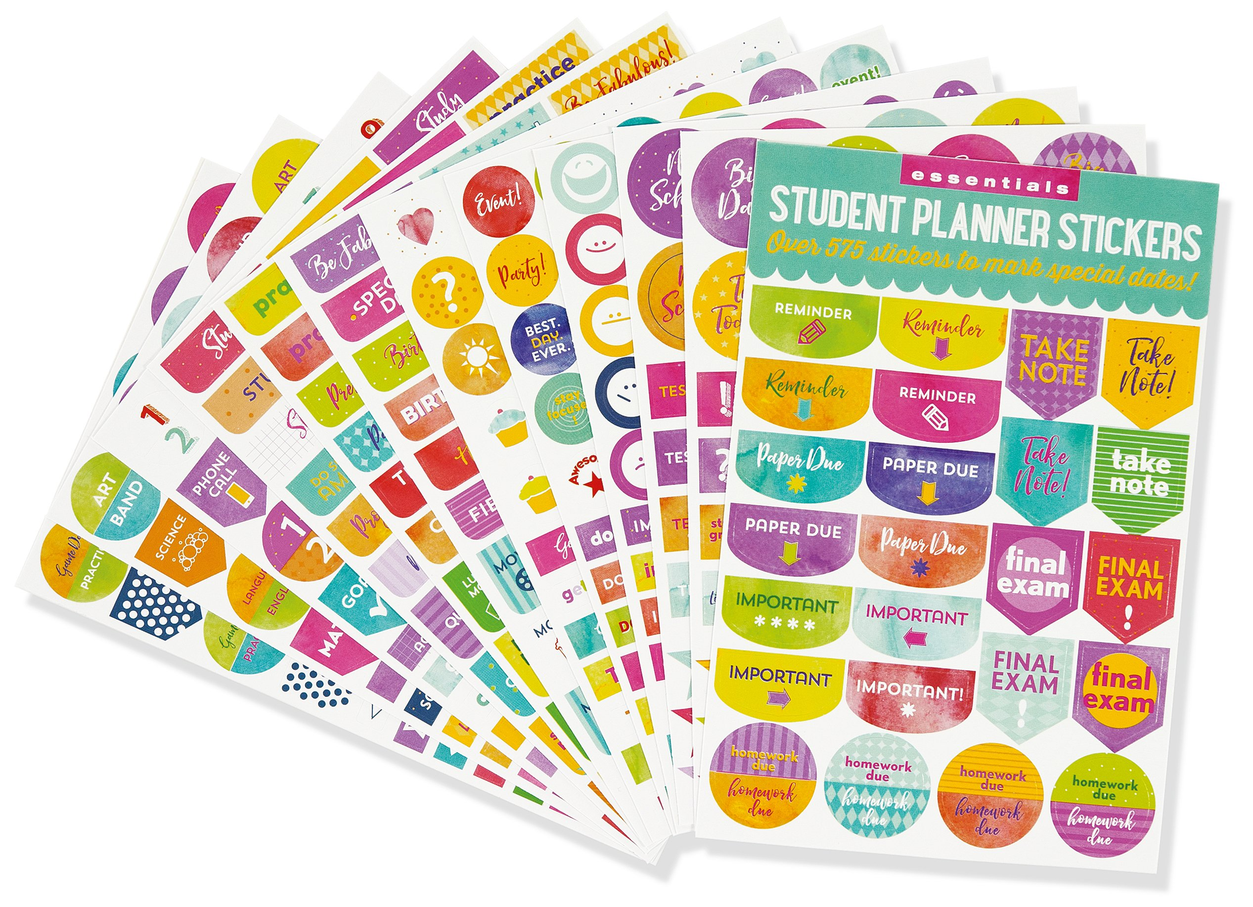 Student Planner Stickers (Set of 575 Stickers): Peter Pauper ...
