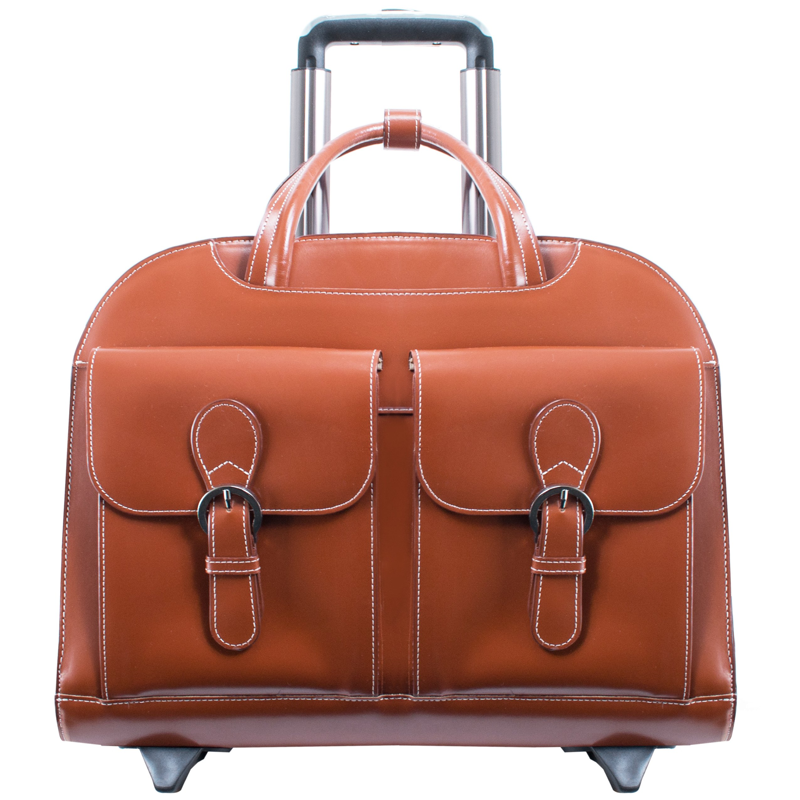 McKlein USA Davis Brown 15.6'' Leather Ladies' Laptop Case (96184A) by McKleinUSA