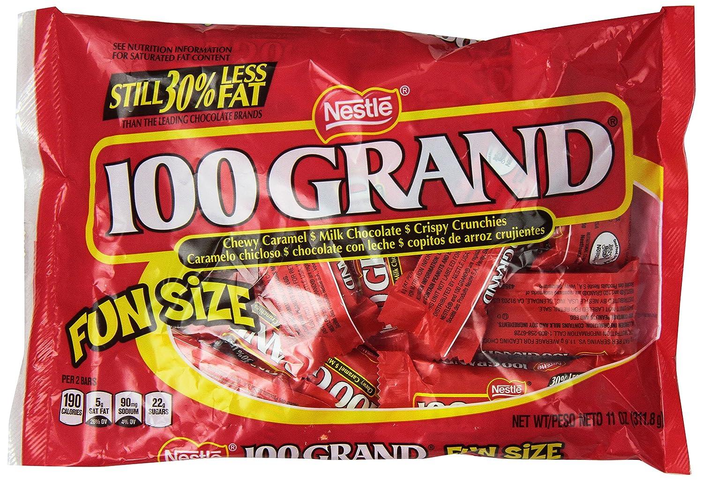 Amazon.com : 100 Grand Chocolate Bar, Fun Size, 11 oz : Candy And ...