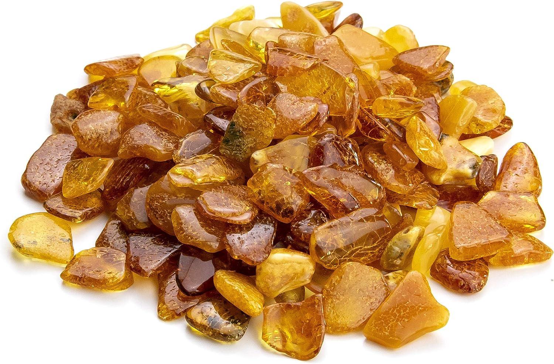Piedras de ámbar báltico natural y pulido en colores variados para manualidades, joyería y alivio del dolor (sin agujeros)