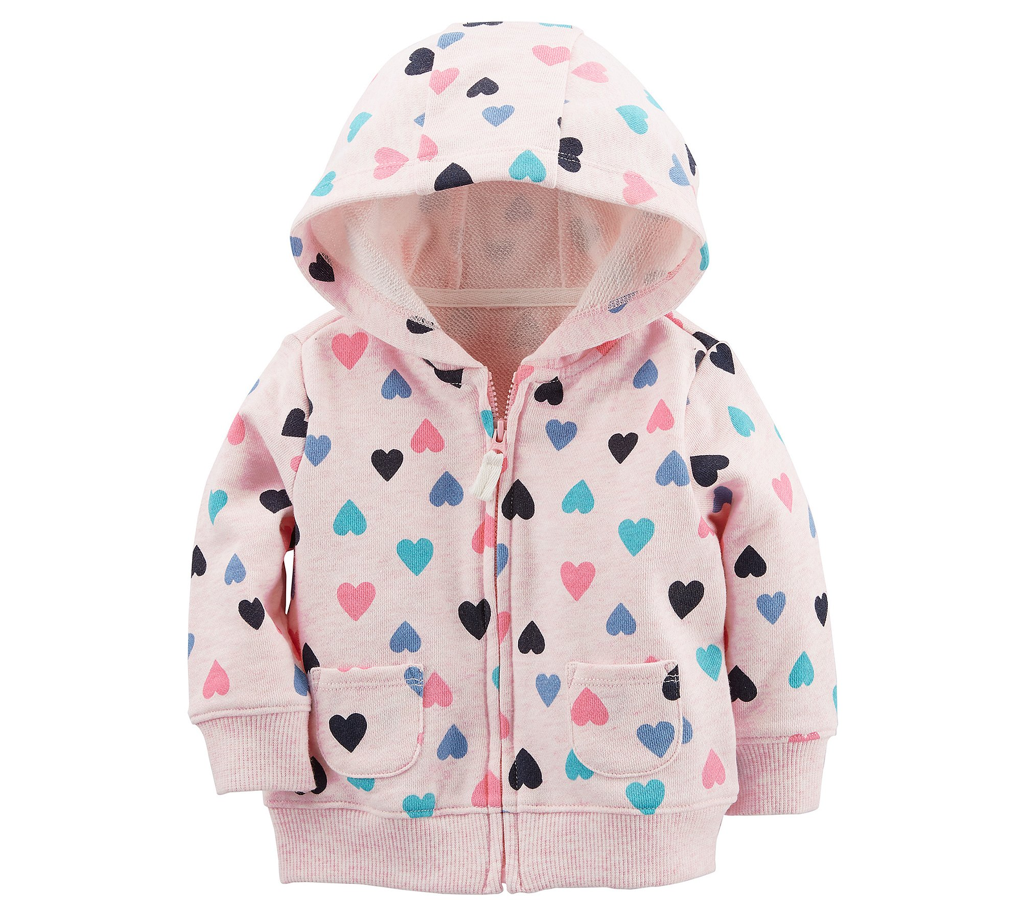 Carter's Baby Girls' Heart Print Zip up Hoodie 3 Months by Carter's