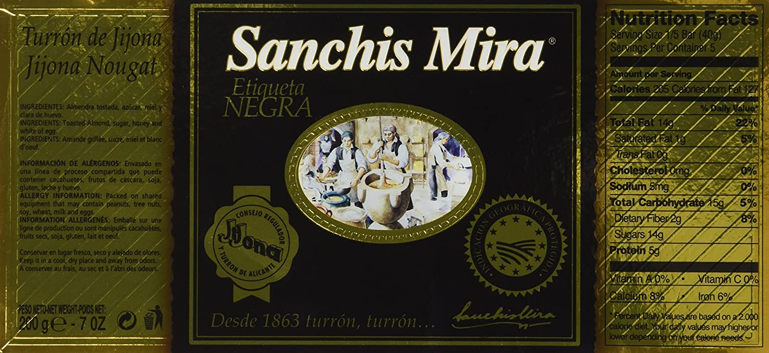Sanchis Mira Turron Jijona 200 grs (7oz.) - Pack of 2: Amazon.com: Grocery & Gourmet Food