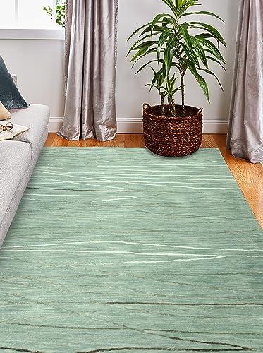 Bashian Collection Hand Tufted Wool Viscose Area Rug, 8.6 x 11.6 , Aqua