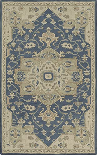 Surya Hand Tufted 100-Percent Wool Classic Accent Rug, 2-Feet by 3-Feet