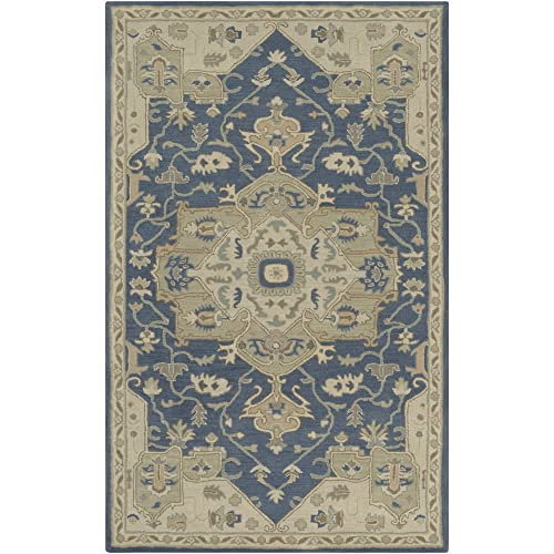 Surya Hand Tufted 100-Percent Wool Classic Accent Rug, 4-Feet by 6-Feet