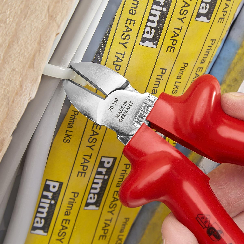 seg/ún norma VDE 160 mm KNIPEX 70 07 160 Alicate de corte diagonal cromado aislados por inmersi/ón en pl/ástico reforzado