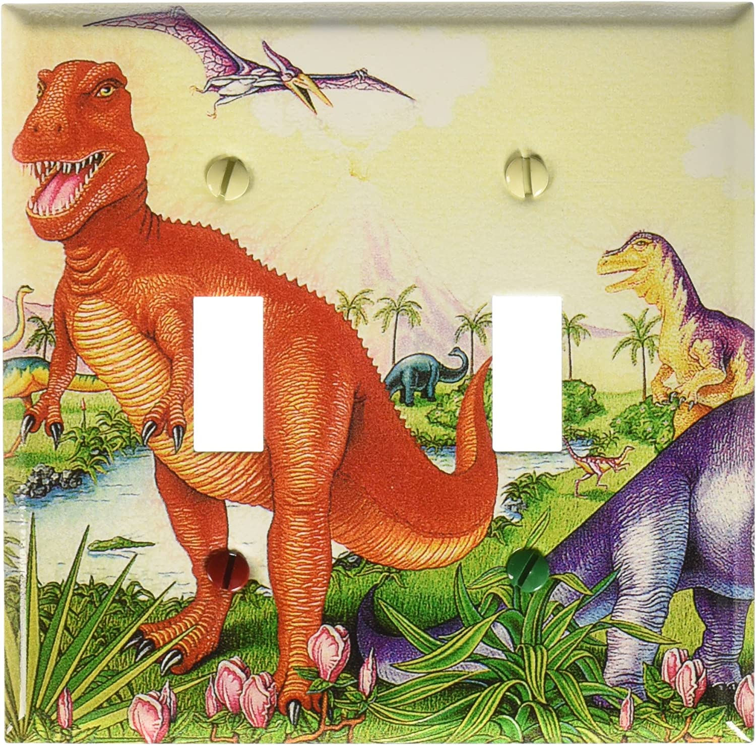 Dinosaurs Switch Plate Single Toggle 143 S Plate Art Plates Wall Plates Tools Home Improvement