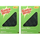 Scotch-Brite Heavy Duty Scour Pads, 20 CT, Pack of 2