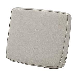 "Classic Accessories Montlake Back Cushion Foam & Slip Cover, Heather Grey, 21x20x4"" Thick"