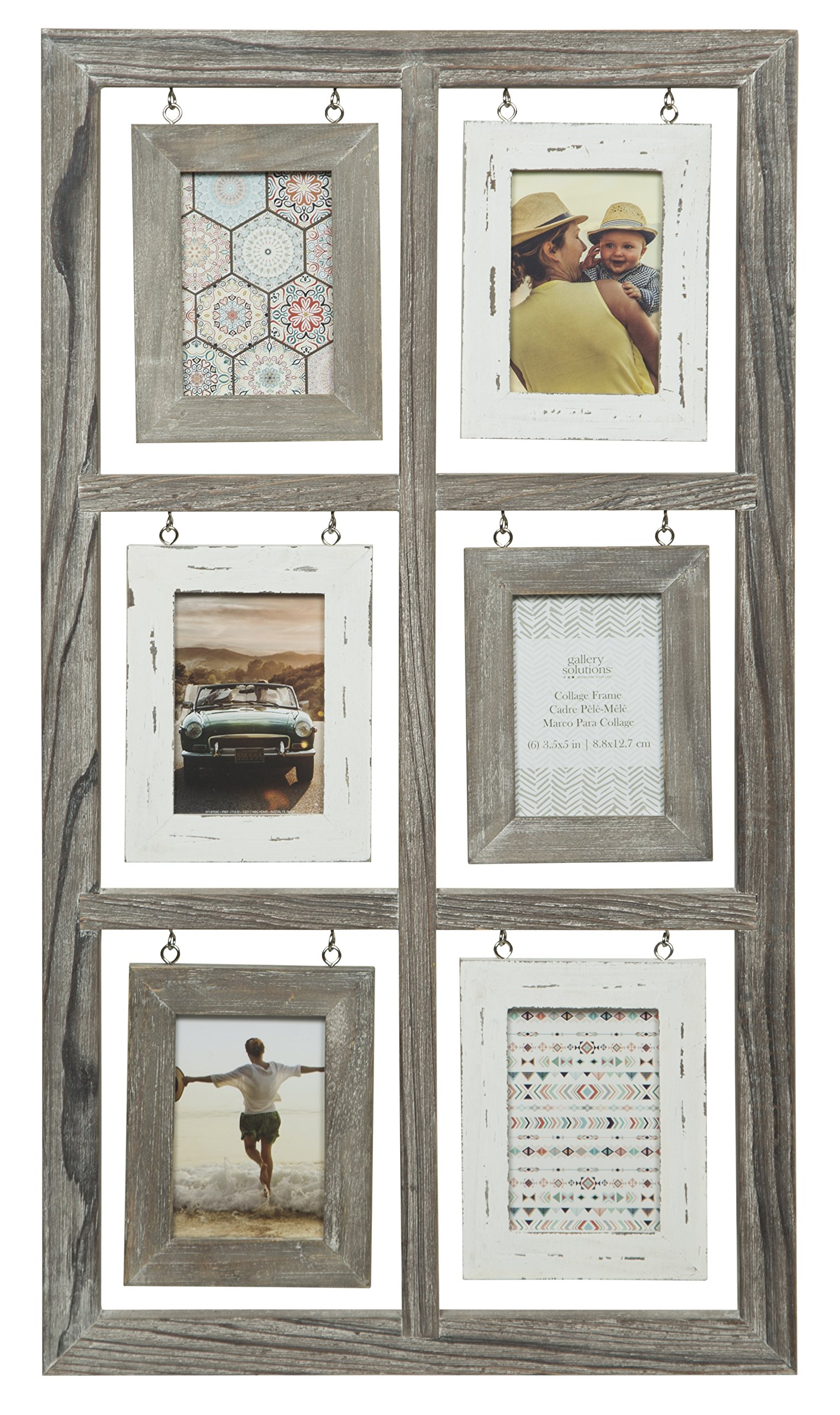 Gallery Solutions 15x28 6 Opening Rustic Homestead Collage Frame by Gallery Solutions