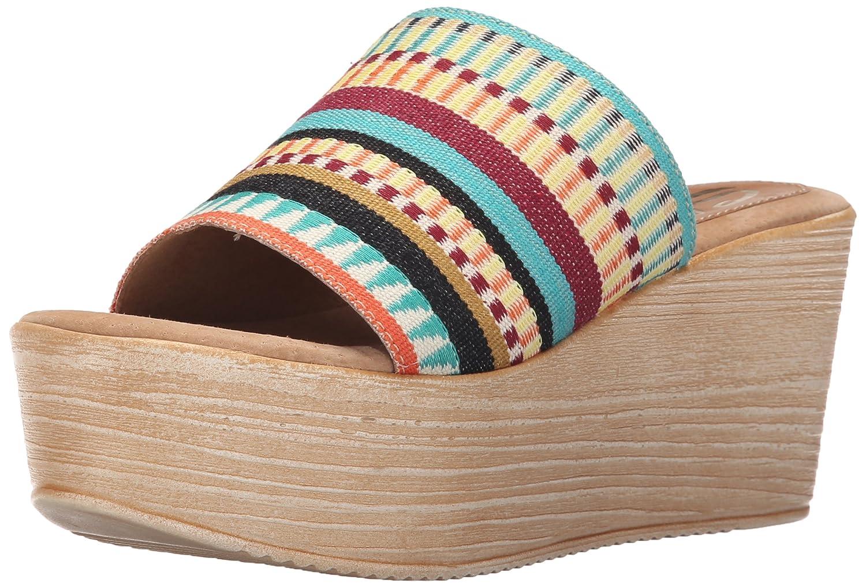 Sbicca Women's Violetta Wedge Sandal B015UOWVYS 8 B(M) US|Teal/Multi