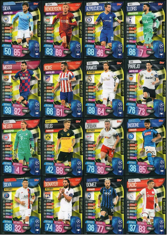Match Attax 2019//20 Completo Equipo Set Chelsea 18 tarjetas 19//20