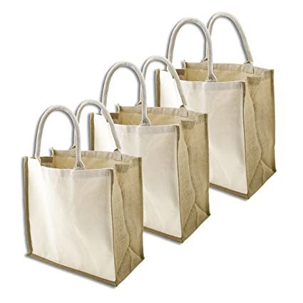 2413df14b Simple Ecology Organic Canvas   Jute Reusable X-Large Tote   Grocery  Shopping Bag -