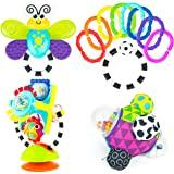 Sassy Discover The Senses Developmental Gift Set for Newborns and Up | Includes Bumpy Ball, High Chair Toy, Water-Filled Teether, 9 Piece Ring O' Links