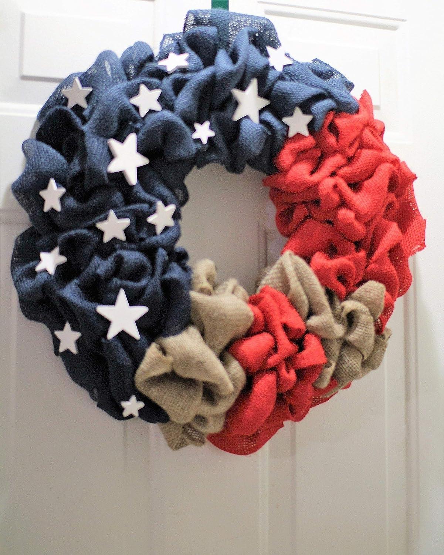 Flag wreath,4th of July wreath,American flag wreath Patriotic Wreath Labor day wreath