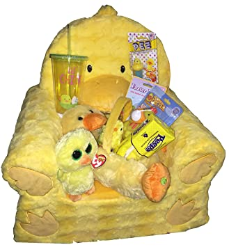 Amazon lil chick animal adventure sweet seat duck chair lil chick animal adventure sweet seat duck chair ultimate easter gift basket bundle for toddlers includes negle Gallery