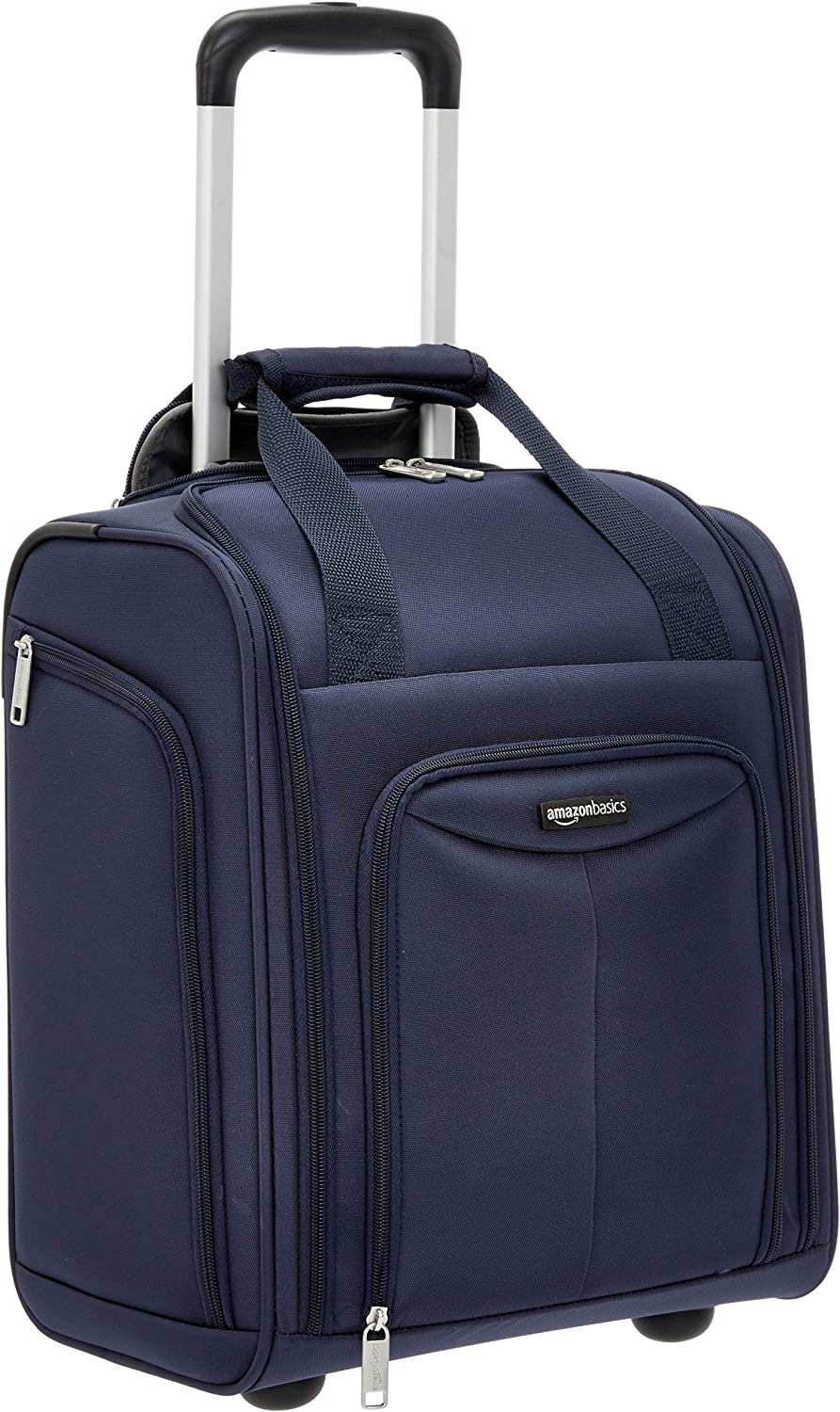 AmazonBasics Large Underseat Spinner Luggage Suitcase with Wheels