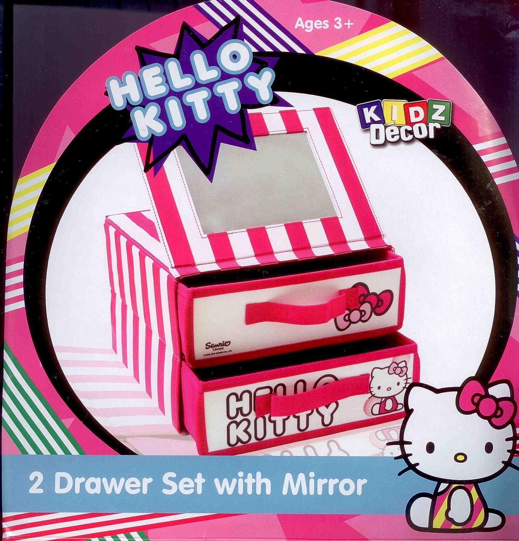 Vogue Hello Kitty Drawer Set with Mirror Vogue International Ltd HKIT2DSM Cats