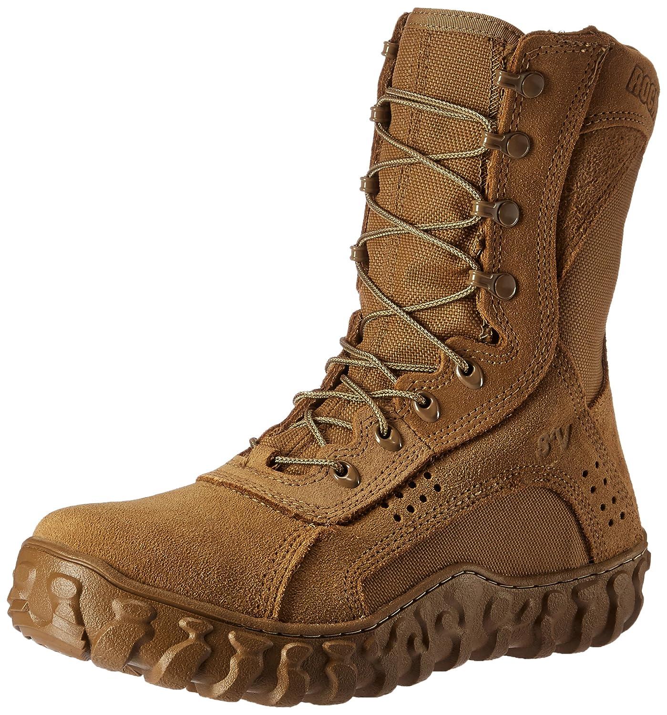 ロッキーMen 's 8 Inch s2 Vつま先保護6104スチールToed作業靴 ブラウン(coyote brown) 7.5 2E US 7.5 2E USブラウン(coyote brown) B00CQT9III