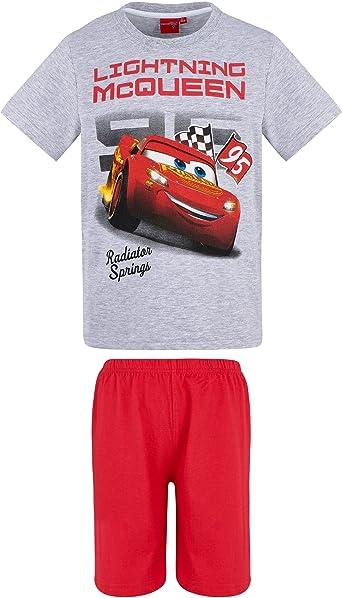 Grigio Disney Cars Ragazzi Maglietta Manica Corta