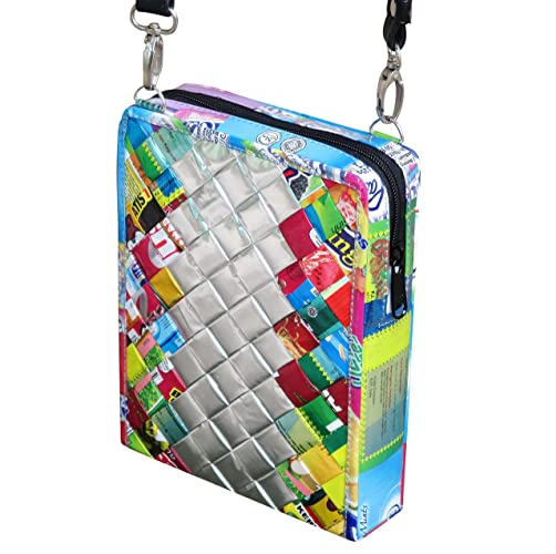 Amazon Com Small Crossbody Using Candy Wrappers Free Shipping