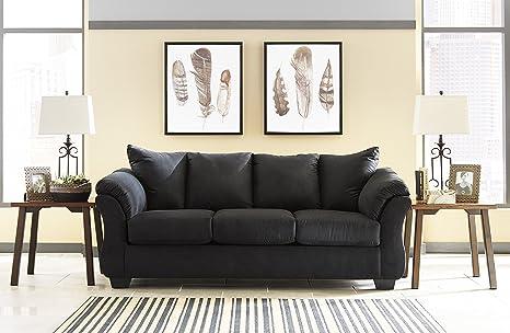Astounding Amazon Com Darcy Contemporary Black Color Microfiber Sofa Squirreltailoven Fun Painted Chair Ideas Images Squirreltailovenorg