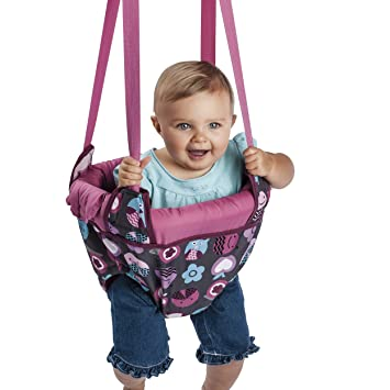 Amazon Com Evenflo Exersaucer Door Jumper Pink Bumbly Baby