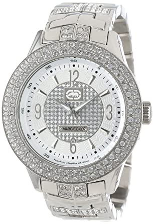Amazon.com: Marc Ecko Mens E16533G1 Silver Iced Watch: Marc Ecko: Watches