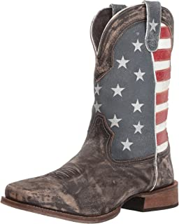 08e53855d9c Amazon.com | Durango Rebel Patriotic Pull-On Western Flag Boot | Western